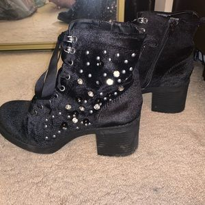 Madden girl booties with embellishments